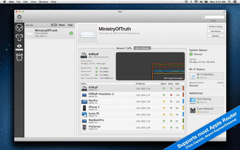 iNet Network Scanner Mac 破解版 Mac上优秀的网络设备监视器-麦氪派