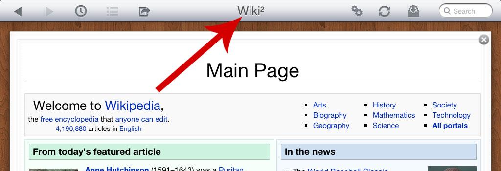 Wiki² - Wikipedia for iPad